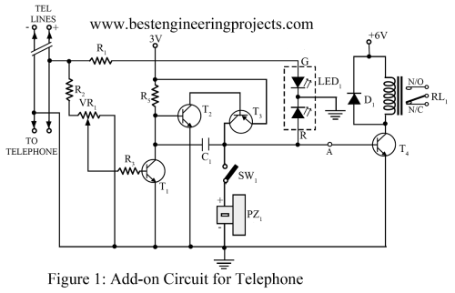 small resolution of basic electronic circuit 1 add on device for telephone