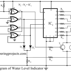 Water Level Indicator Project With Circuit Diagram 2001 Ford F250 Radio Wiring