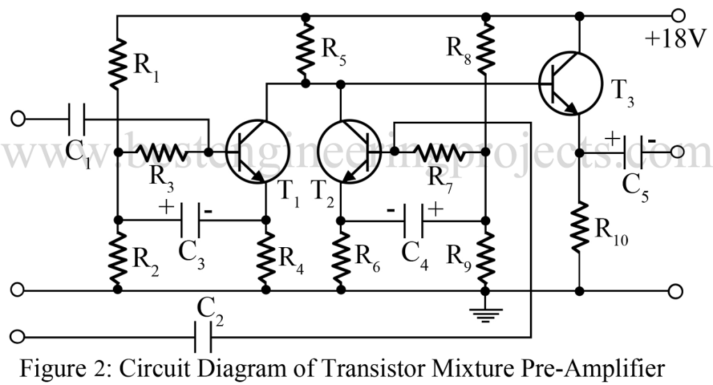 audio mixture circuit using bc148b