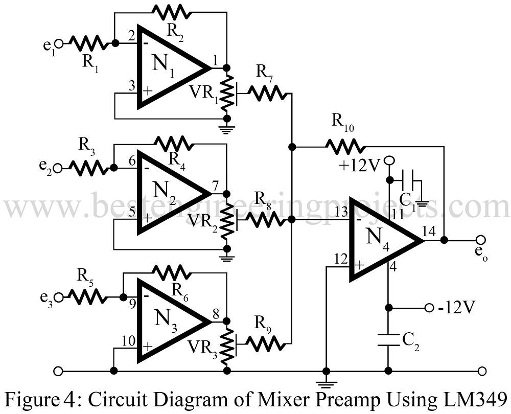 Audio Mixer Circuit Best Engineering Projects
