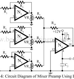 audio mixer circuit [ 1000 x 810 Pixel ]