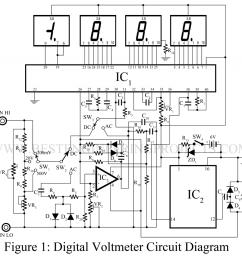 digital voltmeter circuit [ 1024 x 980 Pixel ]