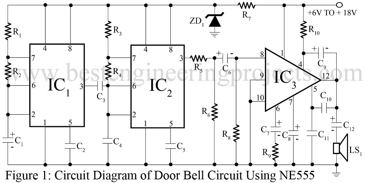 door bell circuit best engineering projects door bell circuit