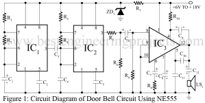 circuit diagram of door bell