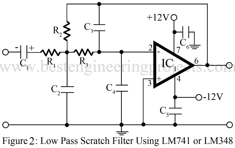 low pass filter circuit 10khz using lm741