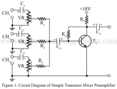simple transistor audio mixture circuit