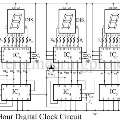 Dld Mini Projects Circuit Diagram King Kutter Finish Mower Parts 24 Hour Digital Clock And Timer Engineering 1 Hz Generator Is Shown In Button Of Article The Output Obtained From Both Above Mentioned Circuits Become More Accurate With Fact