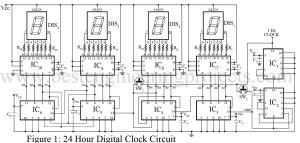 circuit diagram of digital timer with clock