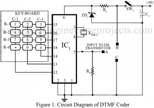 circuit diagram of dtmf coder