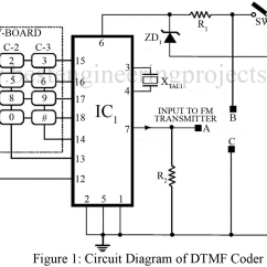 Dtmf Decoder Ic Mt8870 Pin Diagram Orbital For Sulfur Based Remote Control System Best Engineering Projects