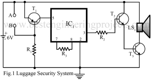 circuit diagram of luggage security system