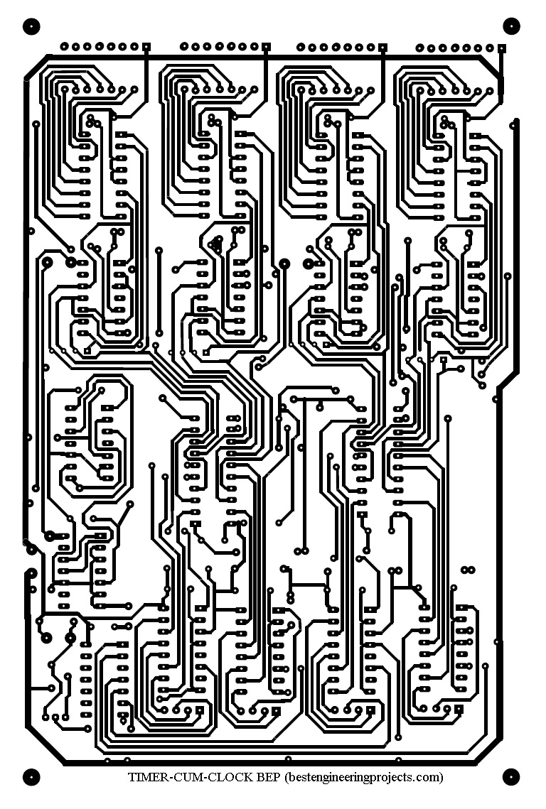 medium resolution of we can retrieve extra benefits from the circuit since the power supply as well as 1hz generator can also be wired on general purpose pcbs and mounted