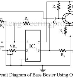 bass booster circuit using op amp 741 ic best engineering projects [ 1400 x 844 Pixel ]
