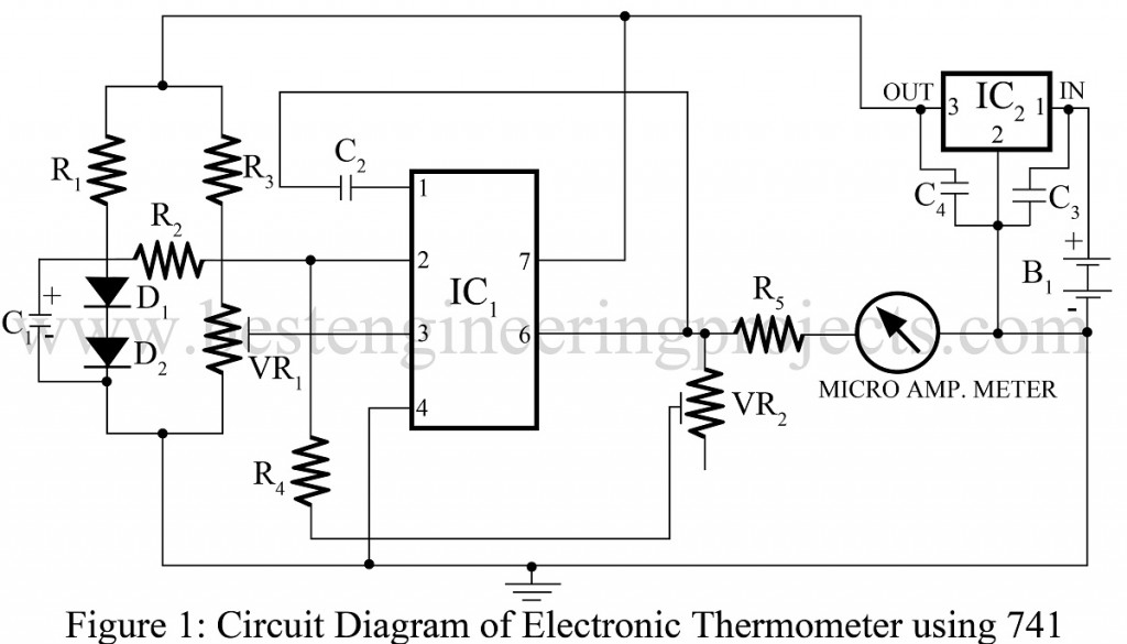 Electronic Thermometer Circuit