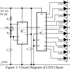 Led Wiring Diagram 9v Pit Bike Electric Start Strobe Circuit Free Engine Image For