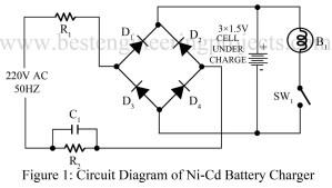 circuit diagram of ni-cd battery charger