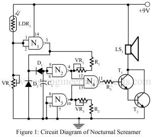circuit diagram of nocturnal screamer