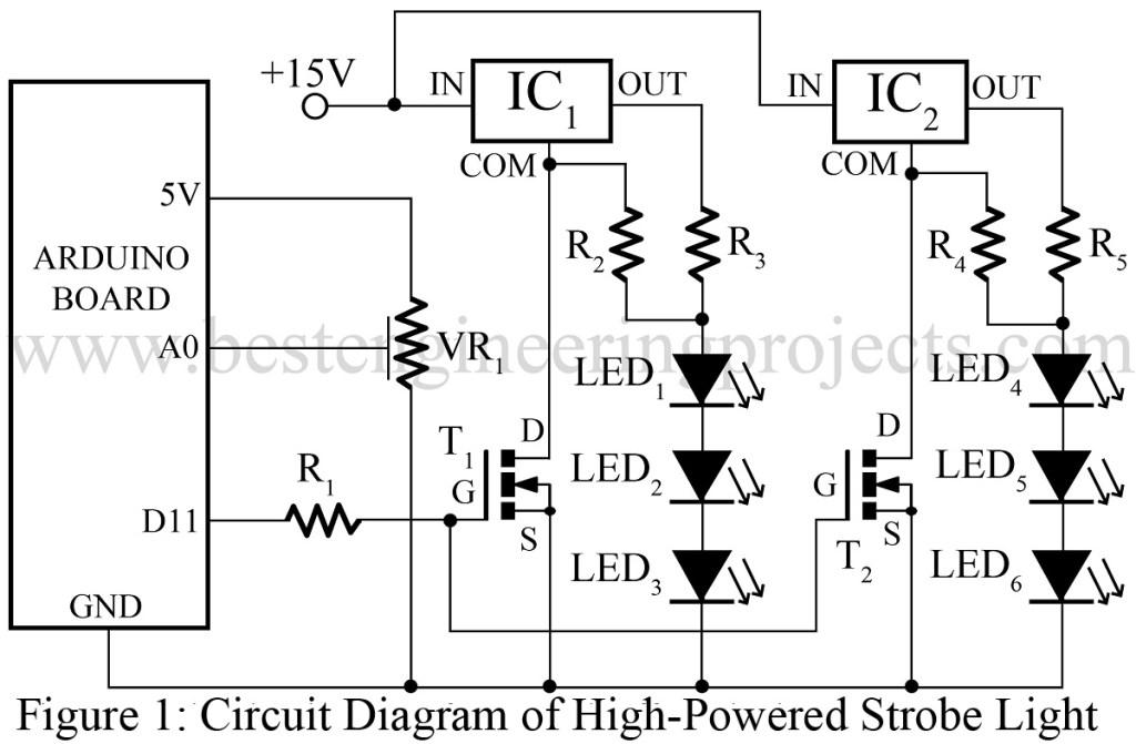 high powered strobe light using arduino best engineering. Black Bedroom Furniture Sets. Home Design Ideas