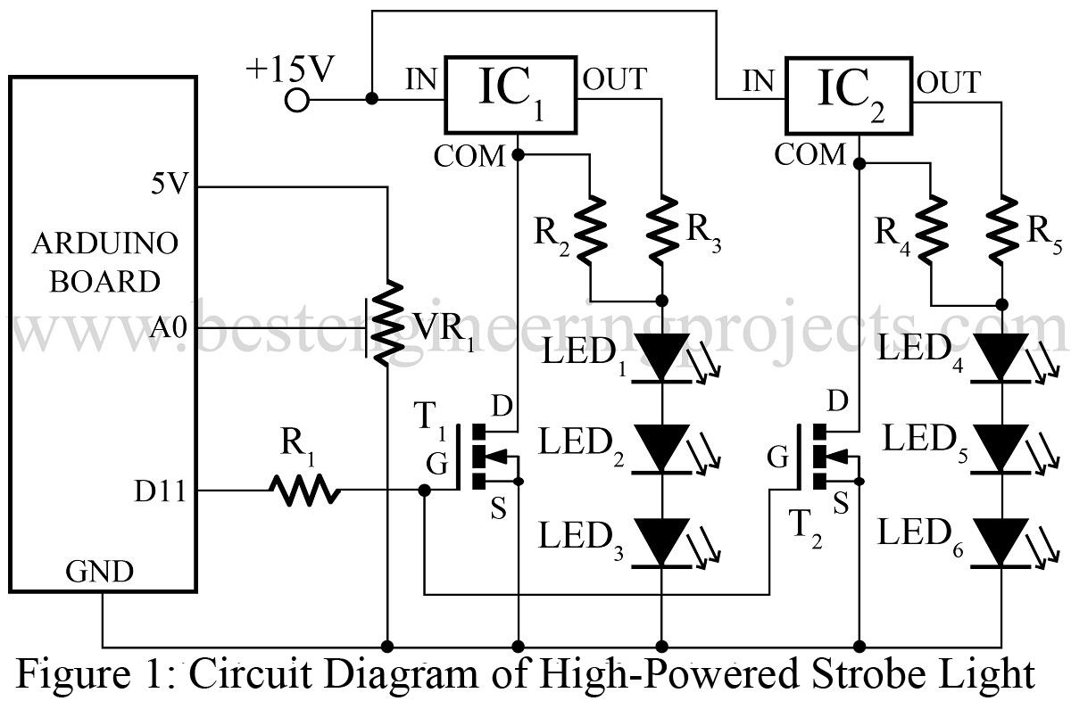 Powered Strobe Light Using Arduino for Strobe Light Symbol  111ane
