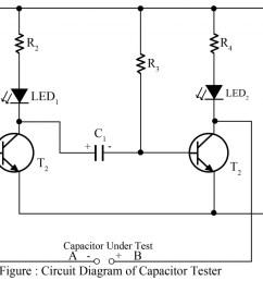 circuit diagram of capacitor tester [ 1024 x 783 Pixel ]
