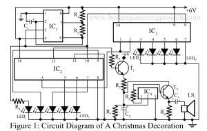 circuit diagram of Christmas decoration