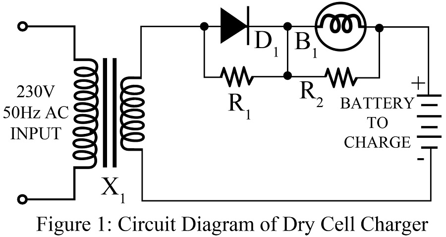 dry cell charger circuit
