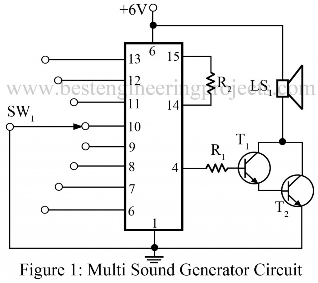 Multi Sound Generator Circuit