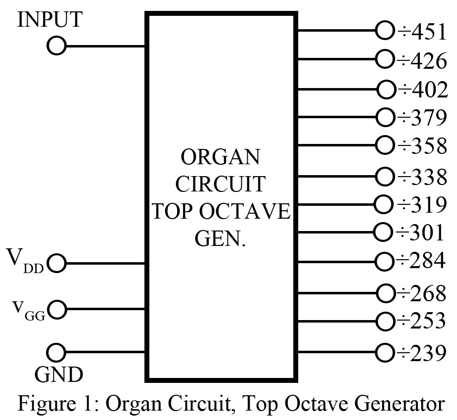 organ circuit, top octave generator