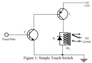 circuit diagram of touch switch