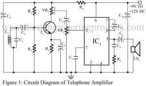 circuit diagram of telephone amplifier circuit