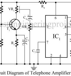 telephone amplifier circuit [ 1200 x 707 Pixel ]
