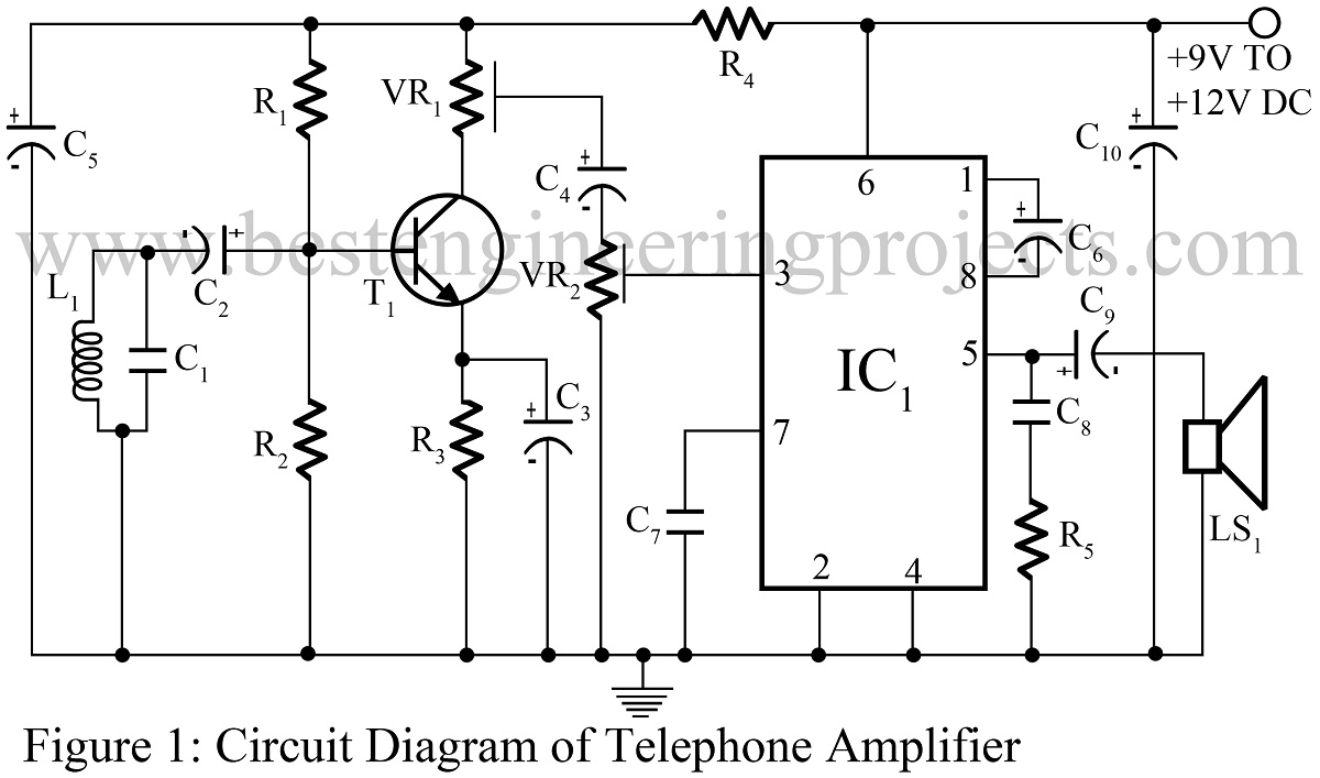 hight resolution of telephone amplifier circuit