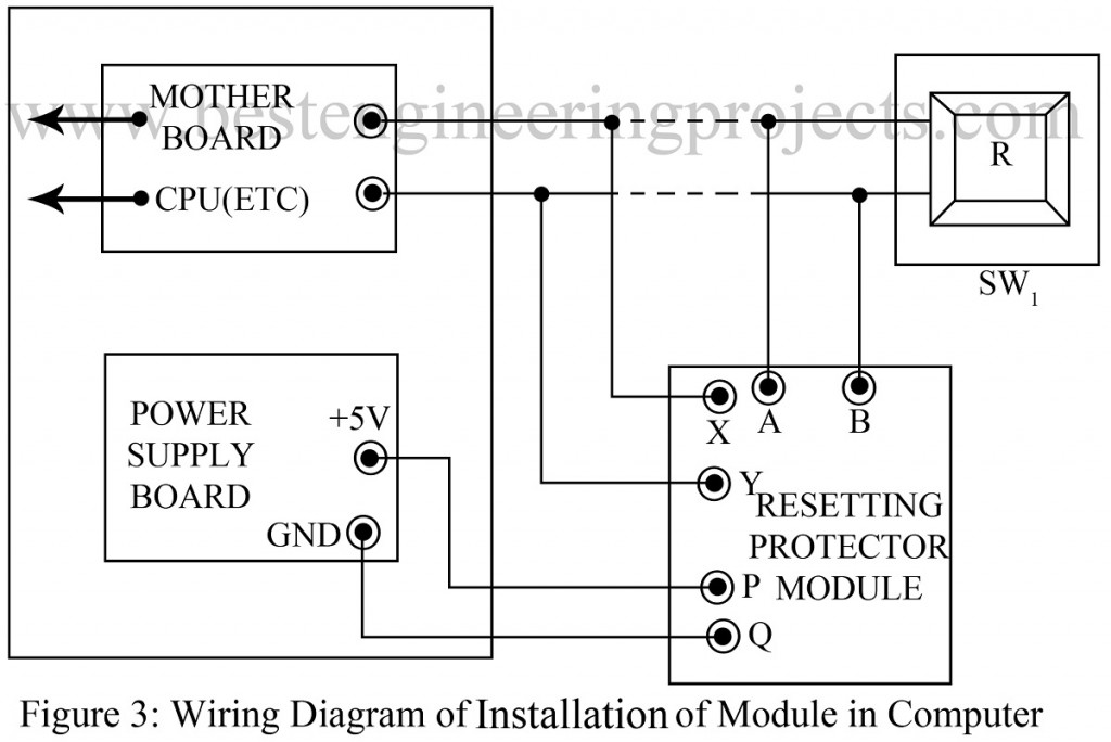 wiring diagram of installition of module in computer