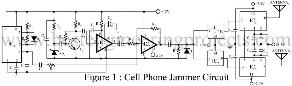 Cell phone jammer Amos - cell phone jammer schematic diagram and report