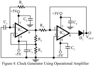 circuit diagram of clock generator using op-amp