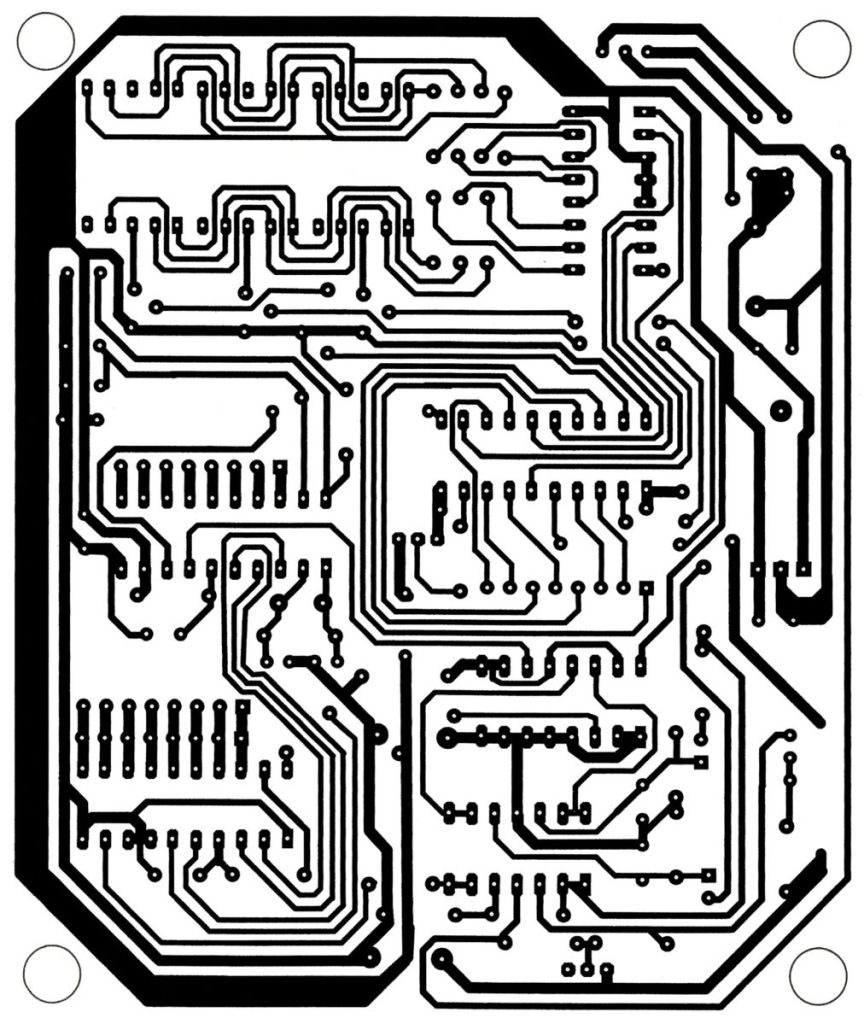 solder side pcb design of call indicator using mc68hc705j1a