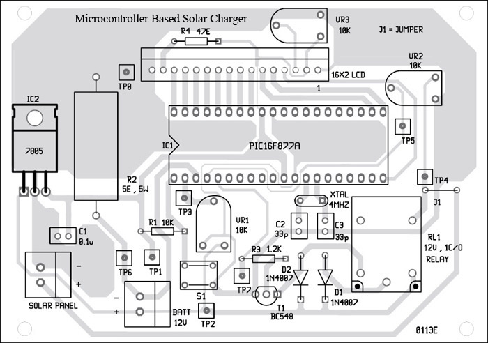 component side Microcontroller Based Solar Charger