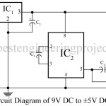 9V DC to plus/minus 5V DC converter