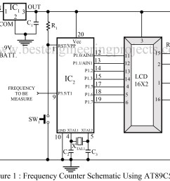 frequency counter schematic using microcontroller at89c51 circuit diagram of 89c51 programmer circuit diagram of 89c51 [ 1200 x 1061 Pixel ]