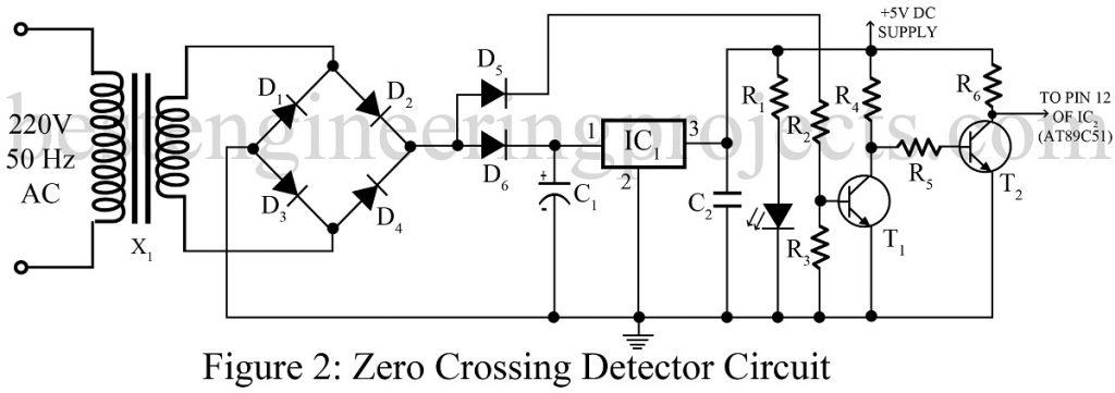 working of zero crossing detector circuit