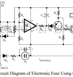 electronic fuse using op amp 741 [ 1200 x 679 Pixel ]