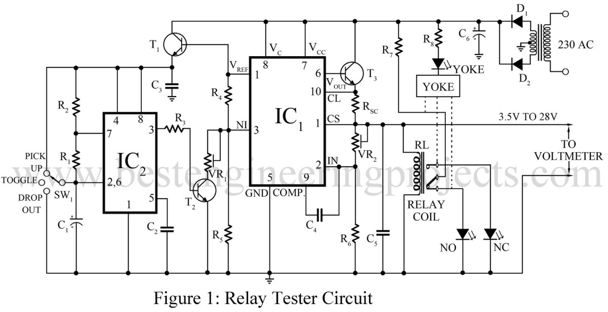 hight resolution of relay tester circuit