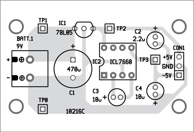 Dual Polarity 5v from 9v Battery