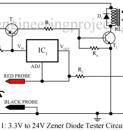zener diode tester circuit engineering projects simple zener tester schematic electronic circuits diagram [ 1200 x 840 Pixel ]
