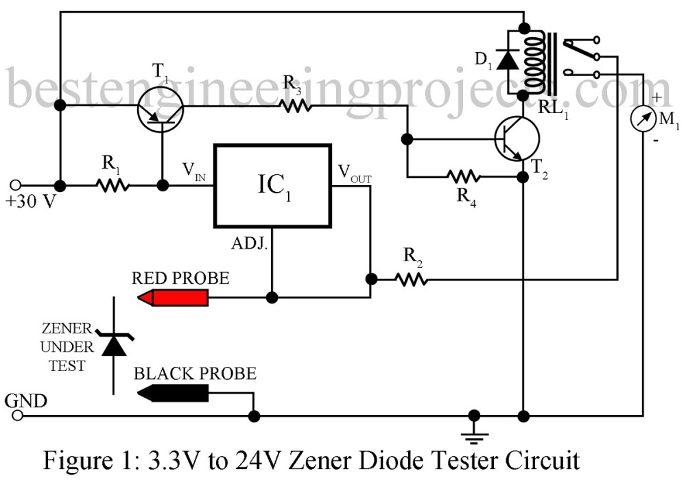 medium resolution of zener diode tester circuit engineering projectscircuit diagram tester 10