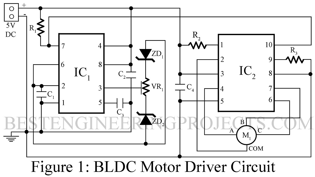 Brushless dc motor driver circuit for Brushless motor driver ic