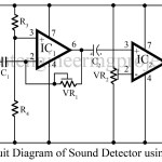 Sound detector circuit using op-amp 741