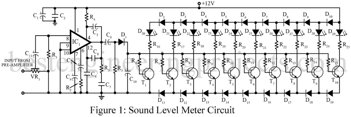 Sound Level Meter Circuit