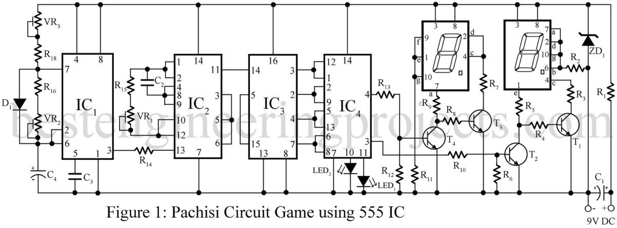pachisi game circuit