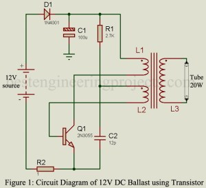 12V DC Ballast Circuit  Engineering Projects
